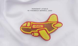 Perníkové letadlo ve firemních barvách - logo