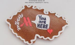 Perníková mapa ČR Prague Marriott Hotel