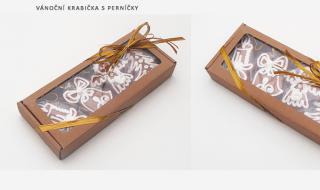 Dárková krabička s perníčky - Vánoce